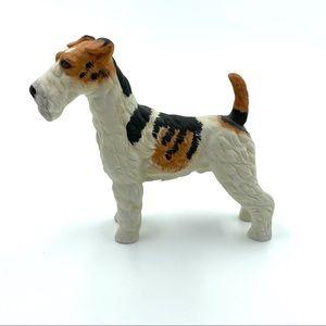 Vintage Wire Hair Fox Terrier Dog Figurine Statue